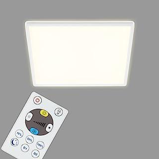 Briloner Leuchten - LED 面板,可调光吸顶灯,带背光,包括遥控器,22 W,3000 流明,白色,420 x 420 x 29 毫米(长 x 宽 x 高)