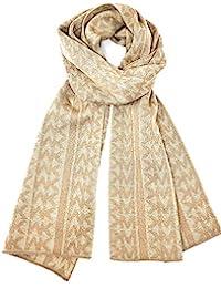 Michael Kors 迈克·科尔斯 女式金色闪光围巾 驼色