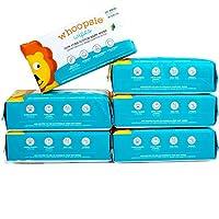 Whoopsie 濕巾 | 超柔軟 - * 純棉干嬰兒濕巾 | 干濕兩用使用 | 柔軟敏感 | 低*性 | *吸水 | 適合換尿布、兔鼻、口水、用餐時間和哺乳(6 件裝)