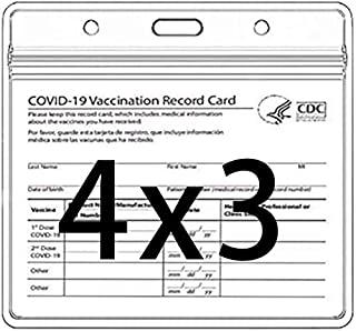卡片保护套 4 X 3 英寸(约 10.2 X 7.6 厘米)*系统记录卡片夹透明乙烯基塑料套带防水型可重复密封拉链多功能(5 个)