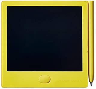King Jim(锦宫)电子手写板 Boogie Board BB-12 本体サイズ:86x86x6mm/3.9インチ/40g 黄色