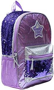 Twinkle Toes 闪光女孩背包 Purple Sequins