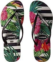 女式 havaianas 人字拖修身热带
