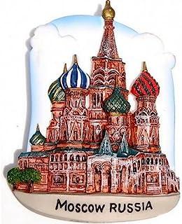 圣母教堂莫斯科俄罗斯,高品质树脂 3D 冰箱贴