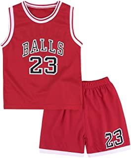 幼儿儿童运动服 2 件套背心运动衫和短裤套装 男孩女孩夏季无袖 T 恤印花服装