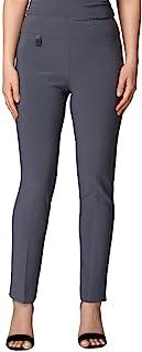 Joseph Ribkoff 及踝宽腰带定制裤子无拉链 - 款式 144092
