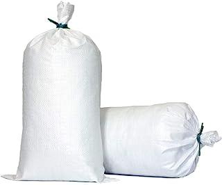 """TerraRight 沙包 - 超耐用空白色编织聚丙烯沙袋带领带,*大 UV Protection, 14"""" x 26"""" 对开式 黑色 100份 白色"""