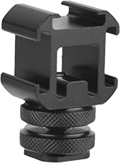 Best-ycldcyp 便携式相机闪光灯三重热靴支架适配器至 1/4 螺纹孔鞋底座延长支架适用于麦克风监视器 LED 视频灯闪光灯支架