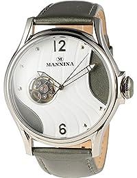 [曼尼纳]腕表 机械式自动上链 附替换皮带 MNN004-02 男士【正规进口商品】 灰色