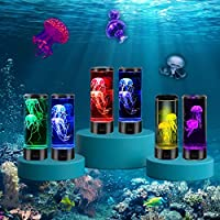 LED 水母灯,水母水族箱,变色灯光效果,USB 供电,圆形果冻鱼水族箱夜心情灯理想礼物