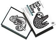 Wee Gallery,婴儿艺术卡片,黑白婴儿卡片,0-12个月 Rainforest Collection