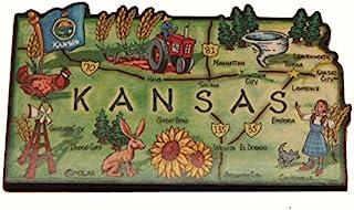 堪萨斯州解荷特大木冰箱贴 8.89 x 5.08 厘米