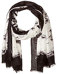 Calvin Klein 卡尔文·克莱恩 女式 X射线印花 羊绒围巾