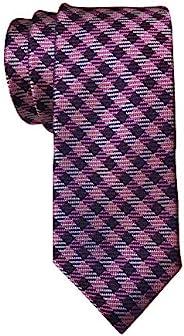 Ted Baker 修身粉色格子领带