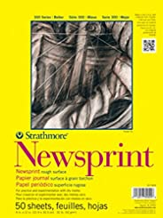 Strathmore (307-814) STR-307-814 50 张粗糙报纸垫,14 x 17 英寸,14 x 17 英寸,白色