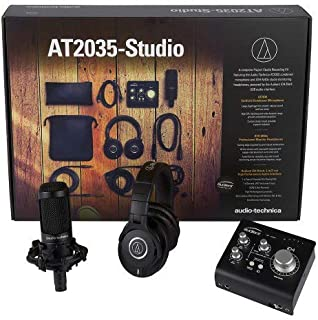 Audio Technica 铁三角 AT2035-The ultimate project录音棚套装,开箱即可录制。