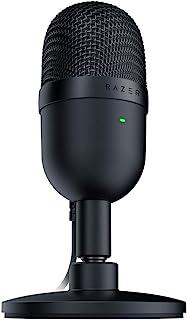 Razer 雷蛇 Seiren Mini:超精密超心型拾音器 - 专业录音质量 - 超紧凑结构 - 重型倾斜支架 - 耐冲击 - 经典黑色