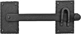 大型栅栏门锁 黑色质朴复制锻铁五金件 30.48 厘米改装器供应制造