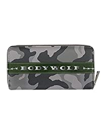 福德产业 装饰杂货(时尚小物)灰色迷彩 主体尺寸:H100×W200×D25cm 合成皮革 长款钱包 BW-100