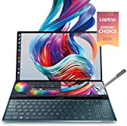 华硕 ZenBook Pro Duo UX581 15.6 英寸 4K UHD NanoEdge 触摸屏,英特尔酷睿 i7-9750H,16GB 内存,1TB PCIe SSD,GeForce RTX 2060,创新屏幕