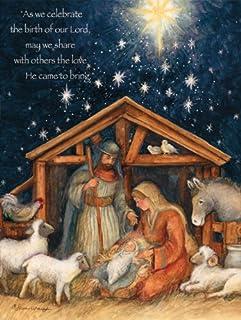 "LANG 1004674 -""圣家"",盒装圣诞卡片,Susan Winget的艺术品"" - 18 张卡片,19 个信封 - 14.675"" x 17.6"""