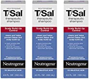 Neutrogena 露得清 T/Sal **洗发露 3% 水杨酸,*牛皮*和脂溢性皮肤*缓解*屑*,6 x 4.5 液体盎司