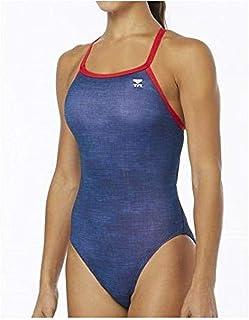 TYR 女士喷砂钻石泳装连体衣