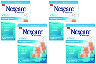 Nexcare 耐适康 防水绷带,家庭装,透明,多种尺寸,每盒50个(4盒装)