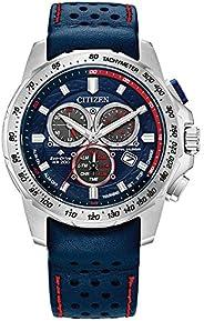 Citizen 西铁城 男式光动能 Promaster MX 计时不锈钢表壳 蓝色皮革表带手表