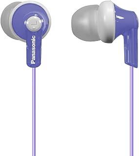 Panasonic 松下电器 ErgoFit RP-HJE120-V 入耳式耳机,动态,水晶般清晰的声音,符合人体工学的舒适度,紫罗兰色