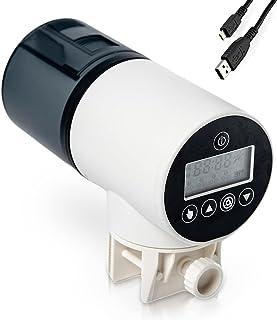 All By Daddy 鱼自动喂食器 - 水族箱或鱼缸用乌龟喂食器,带 USB 充电线,可充电 - 适合日常和度假