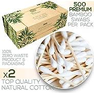 优质500生物降解竹棉签|可堆肥木制耳棒|零浪费一次性产品|不含塑料化妆棉|***清洁刷|环保器皿