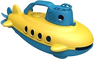 Green Toys 潜水艇 - 不含BPA/邻苯二甲酸盐 蓝色船只 带有由再生材料制成的旋转后螺旋桨 幼儿安全玩具