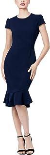 Betsey Johnson 青少年水肺绉纱 V 领连衣裙,*蓝,0
