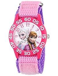 Disney girls 塑料兒童W001790  analog 尼龍 粉色 W001790 watches