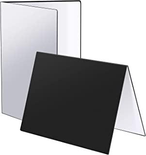 Neewer Light Reflector - 17 x 12 英寸/43 x 30 厘米纸板折叠反射板 3 合 1 反光板 适用于静物、珠宝、化妆品、食品、产品摄影和视频拍摄(黑色/白色/银色)