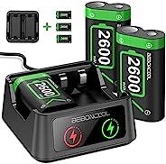 控制器电池组适用于 Xbox 系列 X|S/Xbox One 可充电电池组,适用于 Xbox One X/Xbox One S/Xbox One Elite/Xbox Series X|S 控制器,电池充电器带 3x26