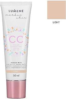 Lumene CC Color Correcting Cream 融合了纯北极泉水 - 6 合 1 中等覆盖,适合所有肤质 SPF 20-30 ml/1.0 Fl.Oz。