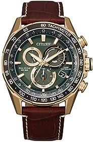 Citizen 西铁城 光动能计时棕色皮革表带手表 CB5919-00X