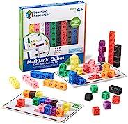 Learning Resources 早期数学链接多维数据集套装,各种颜色,115件,适合4岁以上的人群