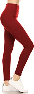 Leggings Depot Higher Waist Women's Buttery Soft Solid Leggings 22+Colors