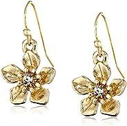 1928 Jewelry Le Marais 金色花朵吊墜耳環