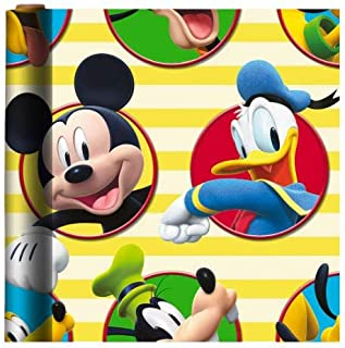 Mickey and The Roadster Racers 主题礼品包装纸 22.5 平方英尺(1 卷)