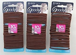 Goody Ouchless 无金属弹性 4 毫米巧克力蛋糕 每包 30 个(共 90 个)