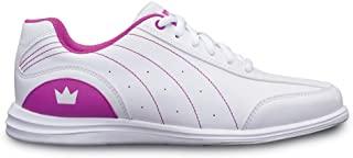 Brunswick 女式神秘保龄球鞋 - 白色/玫红色