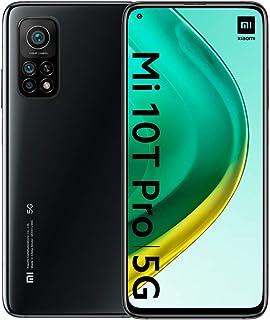 小米 Mi 10T Pro - 智能手机 8 + 256GB,6,67 英寸 FHD+ 点显示,TrueColor,Snapdragon 865,108MP AI 相机,带 OIS,5000mAh,宇宙黑(英版)
