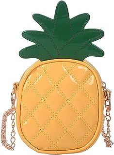 小女孩草莓钱包儿童迷你斜挎包手提包 时尚 PU 皮革手包肩包 儿童节日礼物