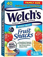 Welch's 水果零食,浆果和樱桃 0.9 Ounce (Pack of