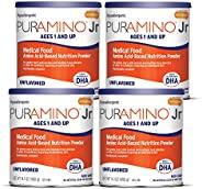 meadjohnson 美赞臣 PurAmino 安敏速 Junior 低致敏性蹒跚学步儿童奶粉,适合对食物严重敏感的人群,14.1盎司,400克(4罐)-Omega 3 DHA,铁,抵抗能力i支持