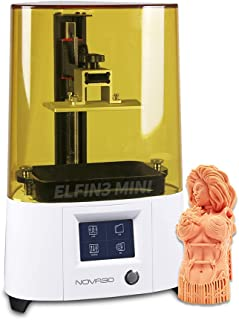 NOVA3D ELFIN3 迷你 3D 打印机 UV 摄影 LCD 树脂 3D 打印机 带 5.5 英寸单色 LCD,打印尺寸 120 x 65 x 150 毫米